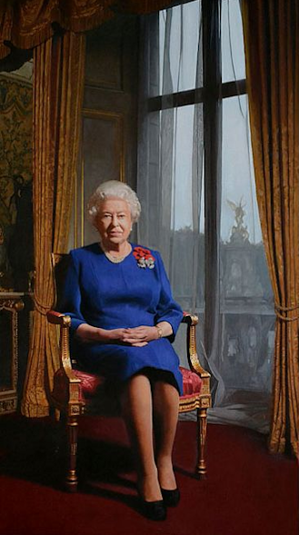 DarrenBaker portrait of the Queen
