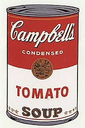 PICTURE OF A PAINTING OF A CAMPBELL'S SOUP CAN